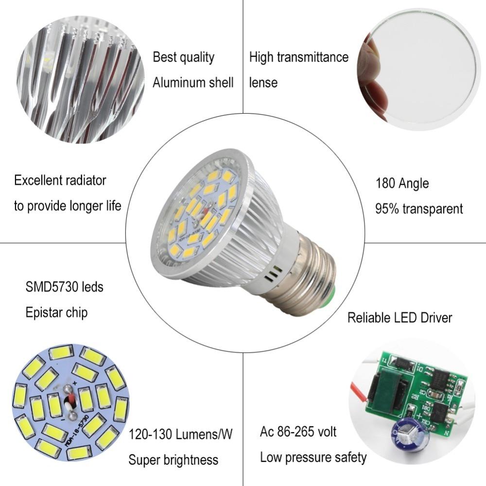 Viewi 1x E27 Led Spotlight 4 Watt Super Bright Bulb Spot Light 5730 Festoon Base Bulbs Car Leds 18 Glass Cover Energy Saving Lamp 110v 220v E 27 Lights In Tubes From