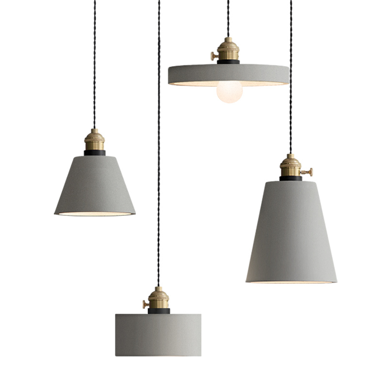 Industrial Retro Nostalgia Cement Hanging Lamp Creative Loft Iron Pendant Light E27 Cafe Bar Lighting Engineering Art Deco PL684 зверев с свидетелей не оставлять