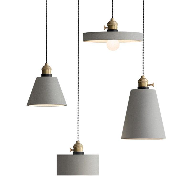 Industrie Retro Nostalgie Zement Hängen Lampe Kreative Loft Eisen Pendelleuchte E27 Cafe Bar Lichttechnik Art Deco PL684