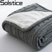 Autumn And Winter Sofa Cover Blanket And Cashmere Knitting Leisure Foreign Trade Wool Carpet European Style