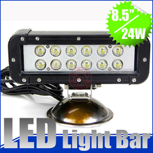 8 inch 24W mini LED light bar Combo Spot Flood beam 1900LM Offroad LED Working/Driving Light for ATV SUV 4WD Camp,Fishing