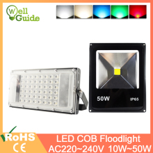 LED Floodlight 10W 20W 30W 50W AC12V 220V COB Motion Sensor Led Flood Light  Outdoor LED Spotlight Wall Lamp IP65 Waterproof ip65 ce good quality high power 30w led wall washer led floodlight 30 1w 110 240vac ds t23 h 30w