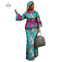 2017 Spring  skirt set african designed clothing traditional bazin print Bazin Riche plus size skirt set  evening dress  WY1096