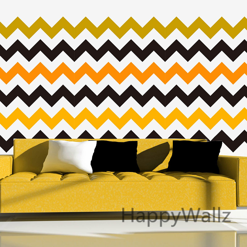DIY Chevron Stripes Wall Stickers Decorative Chevron Wall Decal Removable Wall Decoration Modern Mural Wallpaper P67-in Wall Stickers from Home u0026 Garden on ... & DIY Chevron Stripes Wall Stickers Decorative Chevron Wall Decal ...