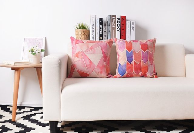 Online Shop Nordic Watercolor Pink Flamingo Pillow cushions Birds ...