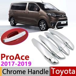 for Toyota ProAce 2017 2018 2019 Luxuriou Chrome Exterior Door Handle Cover Car Accessories Stickers Trim of 4Door