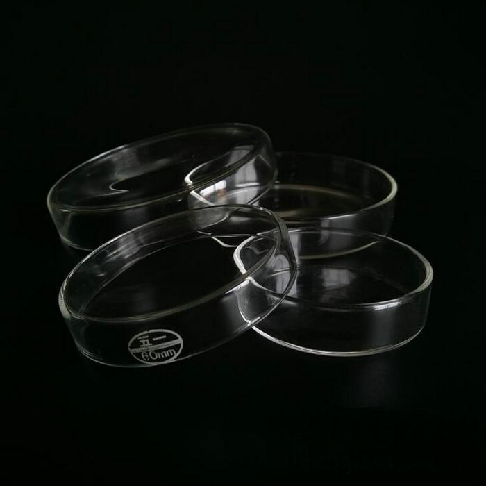 5Pcs/pack Glass Petri Dish 60/75/90/100/120/150mm Lab <font><b>Glassware</b></font> Cell Culture Vessels for Cells Microbial Cultivation