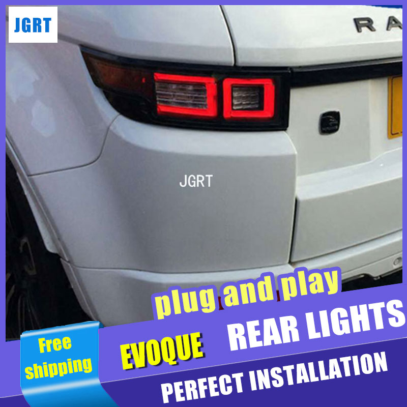 car styling For land rover Evoque taillights 2012-2016 for Evoque rear lights dedicated car light led taillight assembly newest for land rover range rover evoque abs center console gear panel chrome decorative cover trim car styling 2012 2017