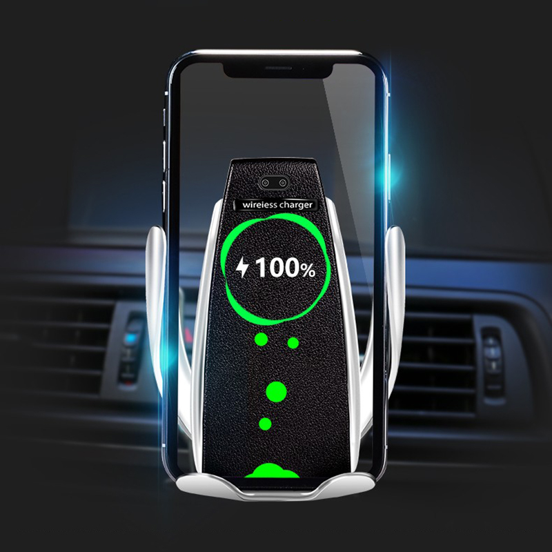 Car Wireless Charger For iPhone Xs Max XR X For Samsung   Intelligent Infrared Sensor Fast Wirless Charging Car Phone HolderCar Wireless Charger For iPhone Xs Max XR X For Samsung   Intelligent Infrared Sensor Fast Wirless Charging Car Phone Holder