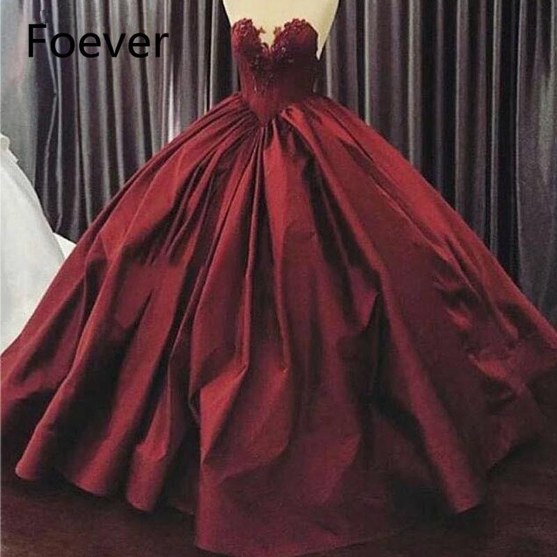 Robe de bal robes de bal 2019 rouge chérie décolleté dentelle Appliques dos nu Satin longueur de plancher robes de soirée robe femme