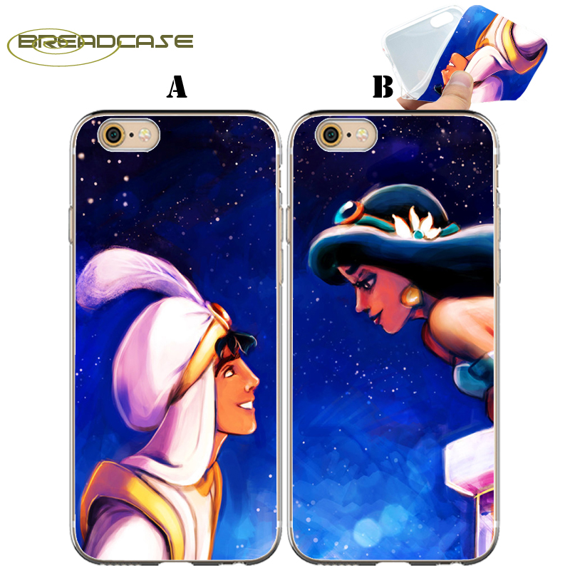 Coque Aladdin Jasmine Couple Capa Clear Soft Silicone Phone Cover for iPhone X 7 8 Plus