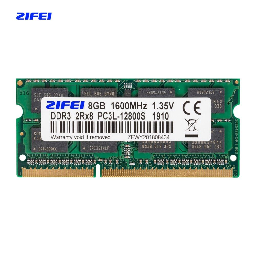 ZIFEI DDR3L 8GB 4GB 1600 1333 MHZ 1.35V Laptop sdram so-dimm de Memória ram