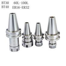 BT30 BT40 0.002mm ER32 ER25 ER20 ER16 ER11 60L 70L 100L 90L CNC Milling Machine Chuck Tool carrier bt40 ger20 100l balanced g2 5 25000rpm milling chuck tool holder 0 01mm for cnc milling machine center