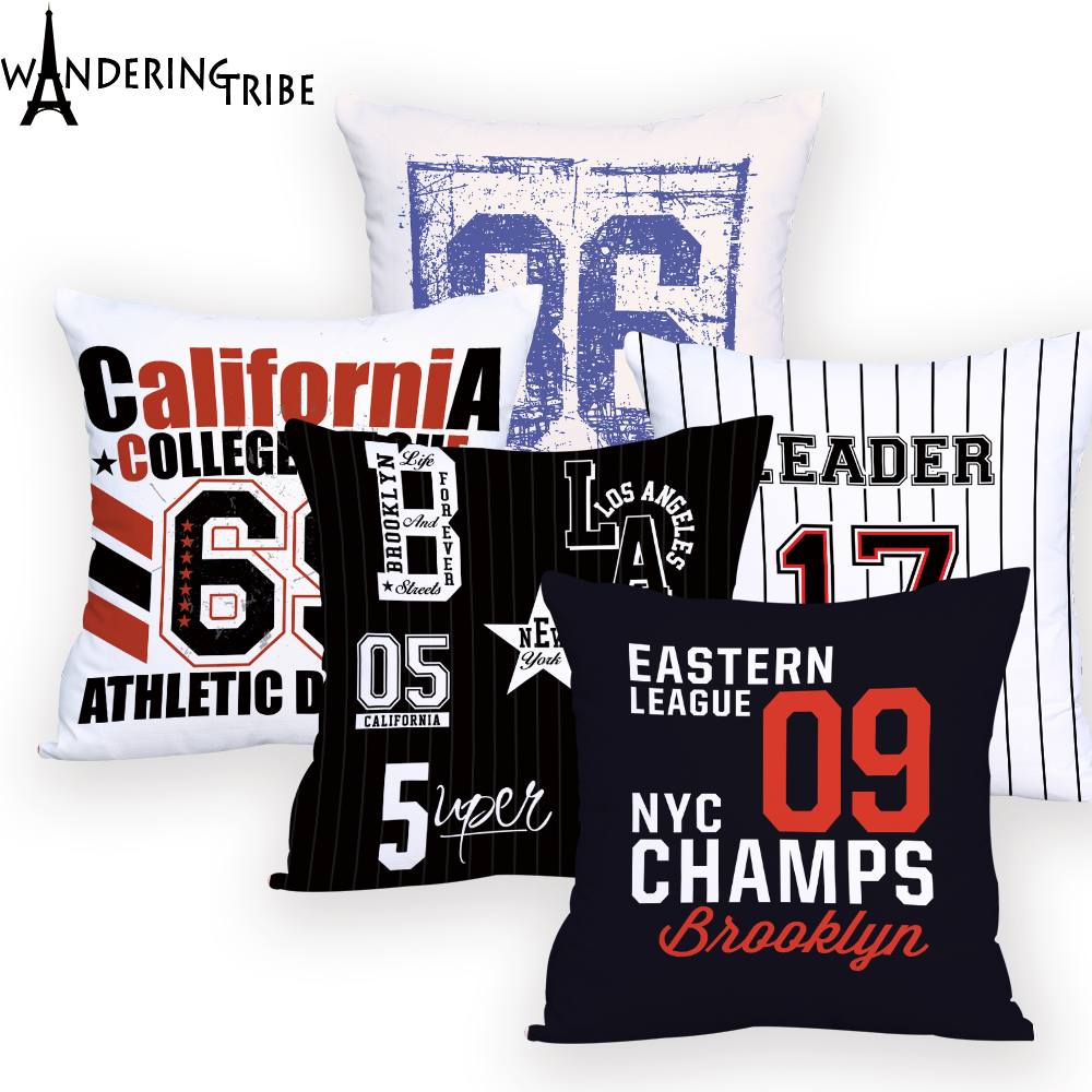 US $3.38 20% OFF|Number Throw Pillows White and Black Home Decor Custom  Cushion Cover Letter Words Cushions Home Decor Promotional-in Cushion Cover  ...