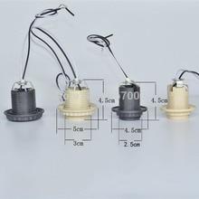 1 шт. E27 E14 пластиковая цоколь лампы с проводом 30 см 80 см, E27 Цоколь E14 светодиодный держатель лампы аксессуары для освещения 110 В 220 В