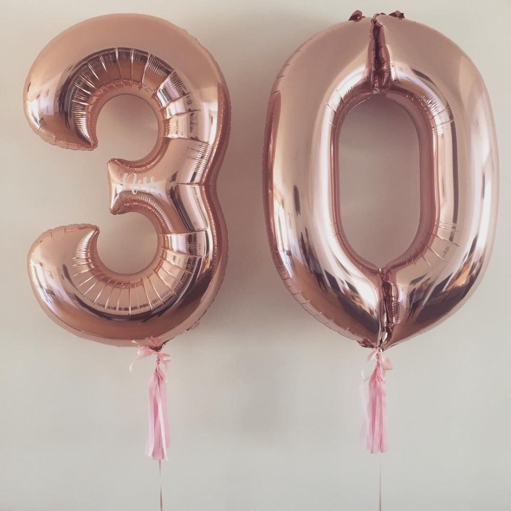 32 InchNumber Foil Balloons Large Digit  Helium Balloons Wedding Decorations Birthday Party Supplies  Cartoon Hat