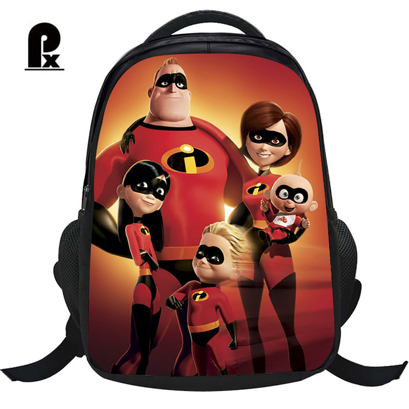 2018 Children Schoolbag The Incredibles Cartoon Backpack Lovely Backpack  for Boy and Girls Teenager School Bag 8748f0ec207d4