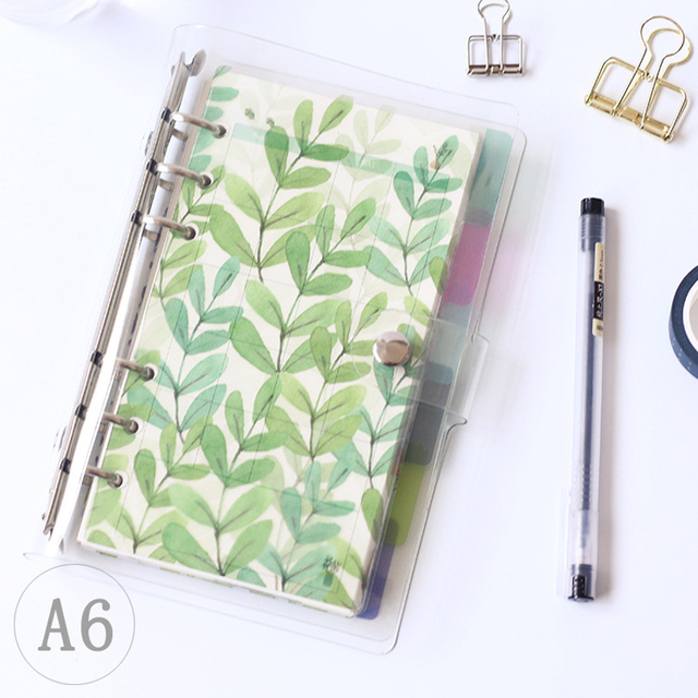 Creative A5 A6 A7 Colored Notebook Index Page Matte Cover Spiral Diary Planner Paper Note Book Category Pages Stationery 1