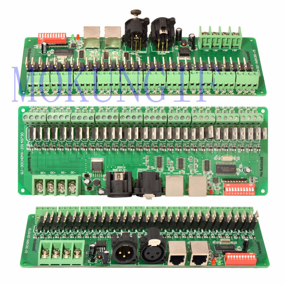 Mokungif 30CHANNEL/ 30CH EASY DMX LED controller DMX decoder&driver RGB led controller 9-24V led rgb controller ct902 1 5a 9 channel output 9 30v input