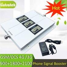 Lintratek трехдиапазонный Сотовая связь ретранслятор GSM 900 UMTS 2100 4 г 1800 Мобильный усилитель сигнала 70dB усиления 2 г 3 г 4 г Усилители домашние с AGC