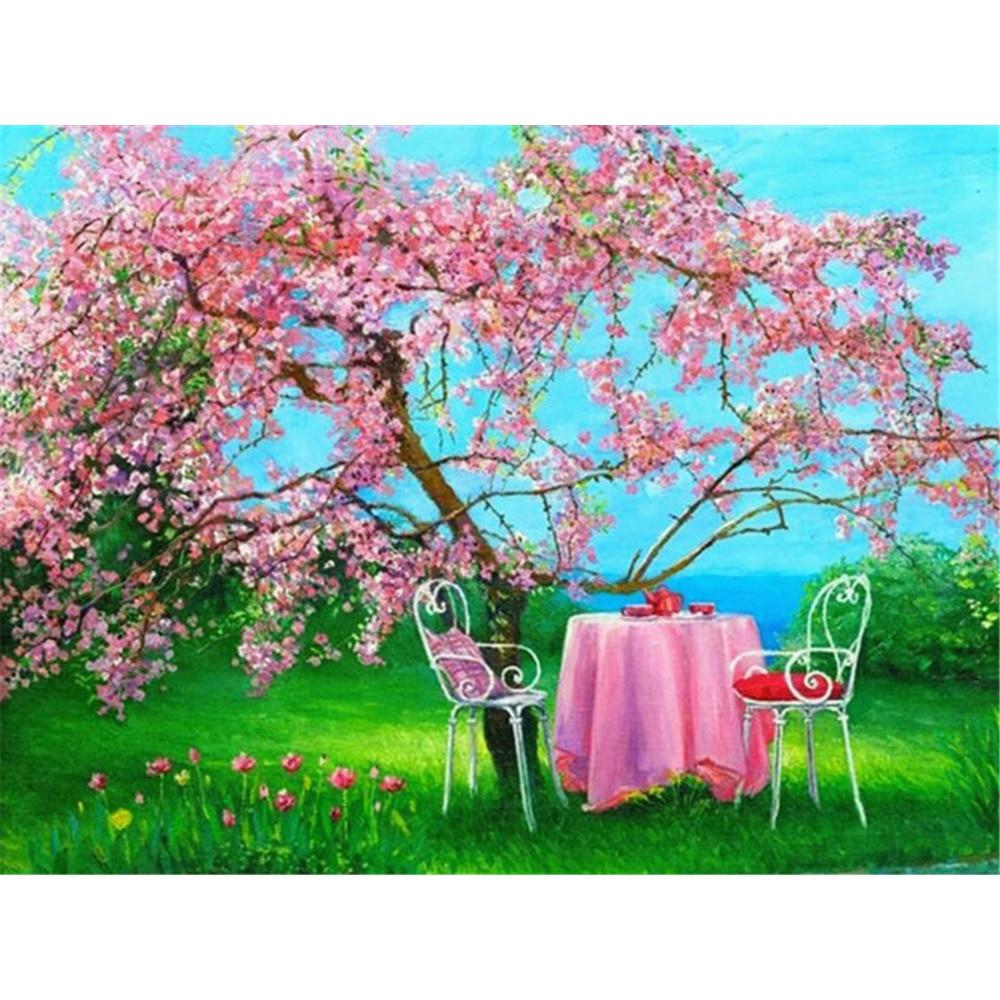 HUACAN-Full-Square-Diamond-Embroidery-Sale-Landscape-Spring-5D-Diy-Diamond-Painting-Picture-Of-Rhinestone-Diamond