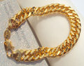 NEW HIP HOP SOLID 100%  REAL YELLOW GOLD GF 11MM MIAMI CUBAN LINK CHAIN BRACELET 7 days no reason to refund