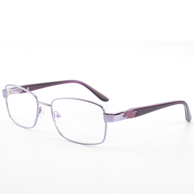 Full Rim Women Metal Eyewear Frames High Quality Eyeglasses Purple ...