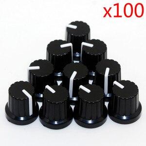Пластиковые резьбовые врезные колпачки с зажимом-потенциометром, диаметр вала 6 мм, 100 шт.