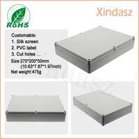 270*200*50mm 10.63*7.87*1.97 polegada de plástico caixa eletrônico gabinete gabinete personalizado plástico de alta qualidade