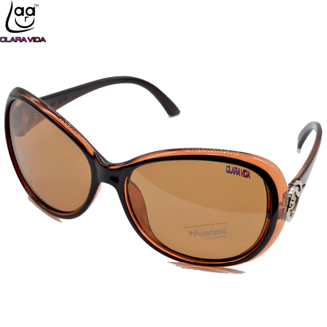 CLASSICAL BUTTERFLY THICK EDGES WOMEN LADIES BROWN Polarized SUNGLASSES  POLAROID POLARISED SHOPPING PARTY SUN GLASSES TAC UV400 81a54f4e27