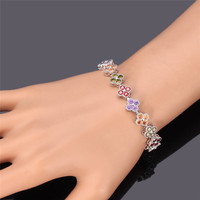 Bracelets Woman Luxury Crystal Jewelry Cubic Zircon 18K Real Gold Platinum Plated 2015 New Trendy Charms