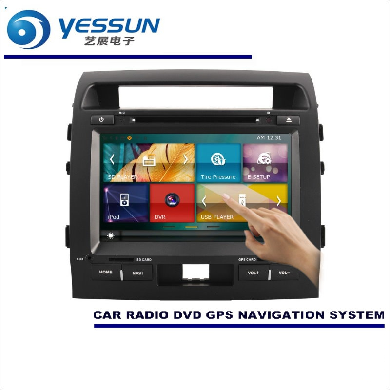 YESSUN For Toyota Land Cruiser 200 / Roraima 2007~2015 Car Radio CD DVD Player Amplifier HD TV Screen GPS Navigation Audio Video
