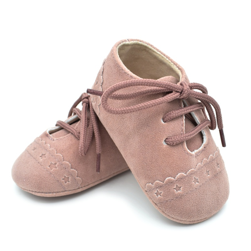 Infant Baby Girls Boys Spring Lace Up Soft Leather Shoes Toddler Sneaker Non-slip Shoes Casual Prewalker Baby Shoes 24