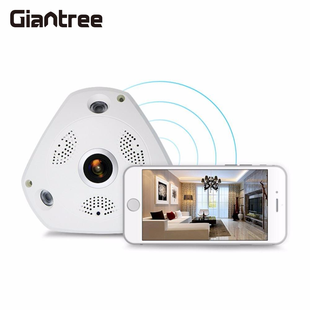 giantree 3D VR Camera FIsheye Camera 1.3MP WiFi 360 degree 3D VR Panoramic CCTV Network IP Camera IR Night Vision
