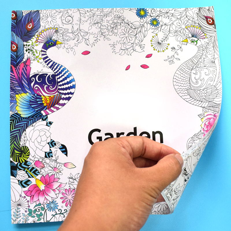 24 Pages Mystery Garden Book Coloring Books For Adults Kids Antistress Art Books Mandala The Secret Garden Quiet Color Drawing