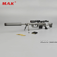 1:6 Scale Metal Color CheyTac Intervention M 200 Sniper Rifle Weapon Model Toys ZY15 11 for 12 Action Figure Accessories