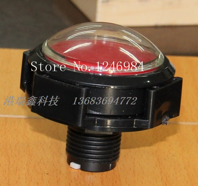 [SA]New video game accessories video game buttons big red button on the host computer convex switch button--10pcs/lot lucky john croco spoon big game mission 24гр 004