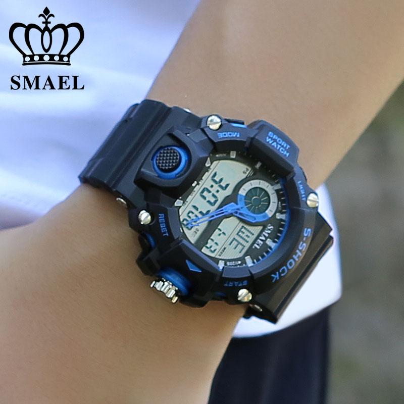 Klocka SMAEL Klockor för män Quartz Digital Mode Militär Casual - Herrklockor - Foto 6