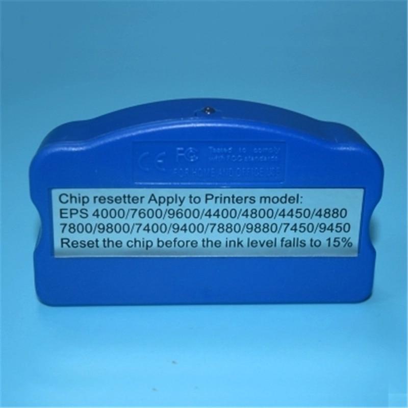 For Epson Stylus Pro 7800 9800 7880 9880 7400 9400 4000 4400 4800 4880 7600 9600 10000 10600 printer Ink Tank Chip Resetter pa e4000 printer ink damper for roland for epson 9800 9880 9400 7800 7880 more 4 pack