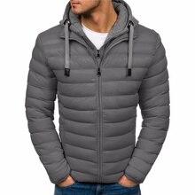 ZOGAA Winter Jacket Men Hooded Parka Cotton Coat 7 Colors Plus Size Warm Clothing Men Jacket Casual Outwear Overcoat Jackets цена в Москве и Питере
