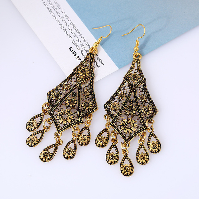 Bohemian Vintage Drop Earrings 6