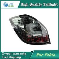 Car LED Tail Light Parking Brake Rear Bumper Reflector Lamp For Skoda Fabia 2008 2012 Red
