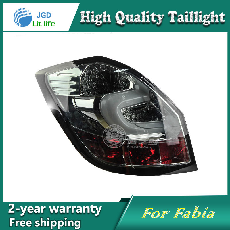 Car LED Tail Light Parking Brake Rear Bumper Reflector Lamp for Skoda Fabia 2008-2012 Red Fog Stop Lights Car styling complete poems of hart crane