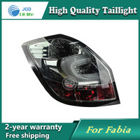 Car LED Tail Light Parking Brake Rear Bumper Reflector Lamp For Skoda Fabia 2008 2012 Red