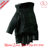 Free Shipping Scoyco MC25 Motorcycle Half Finger High Protective Goat Skin Racing Gloves Motorbike Accessories Parts