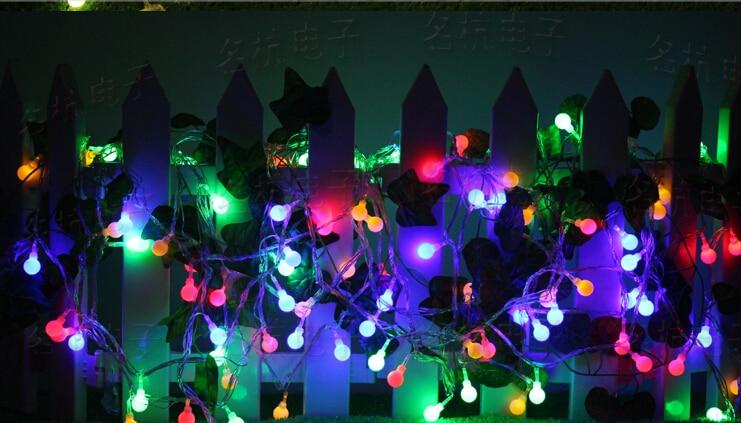 Free shipping 5M led 50 Flashlight battery ball String lights 3pcs AA Battery Operated Wedding Flashing LED light