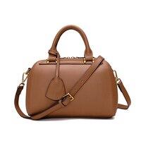 Paste New Retro Leather Handbags 2017 Boston Bag Leisure Wild Messenger Bag Handbag Original Leather Trend