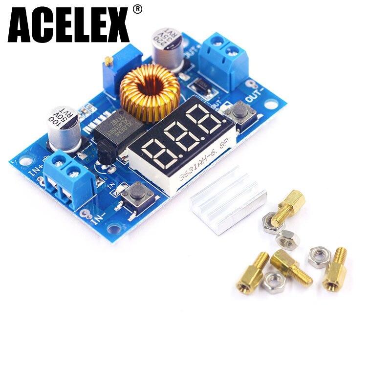DC Step Down Converter DC 4.0 ~ 38V to 1.25V ~ 36V 5A 75W Adjustable Buck Voltage Regulator + LED VoltmeterDC Step Down Converter DC 4.0 ~ 38V to 1.25V ~ 36V 5A 75W Adjustable Buck Voltage Regulator + LED Voltmeter