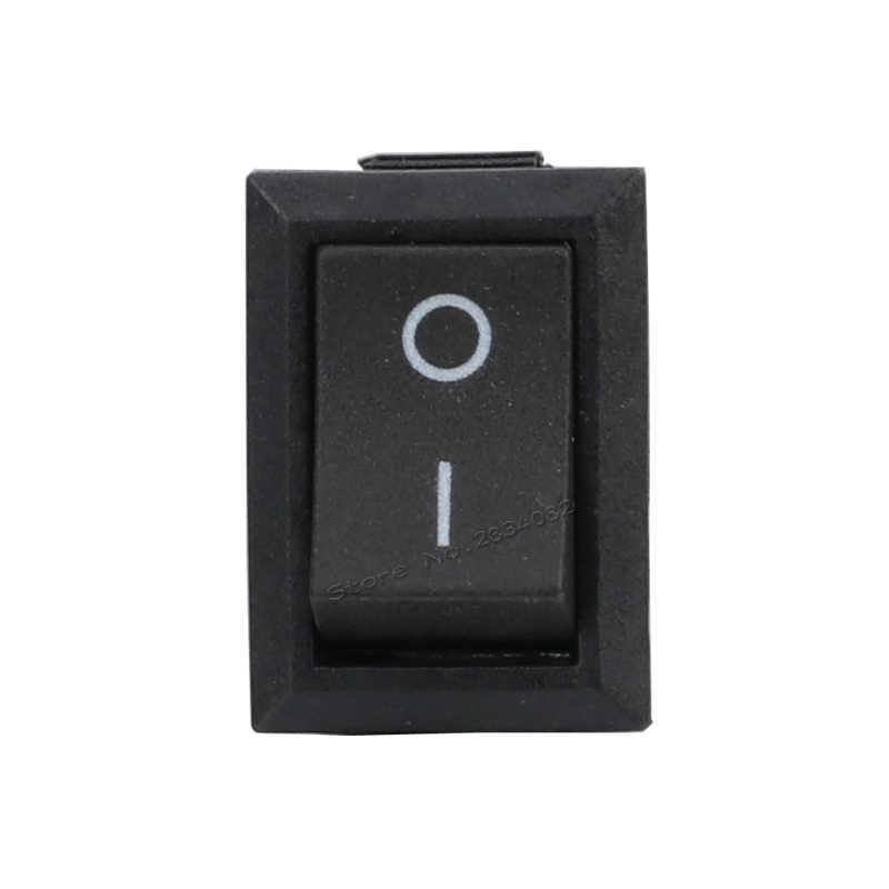2 контакта 6A/250VAC 10A/125VAC SPDT Рокер Лодка переключатель 2 позиции 2 файлы вкл. Выкл. фиксации Прямоугольник мощность переключатель медь булавки черный