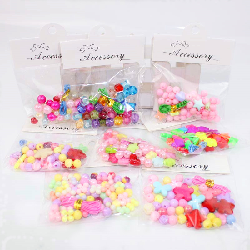 1 Bag/lot DIY Arts and Crafts for Kids Beads Toys Necklace Bracelet Handicrafts Fashionable Jewelry Gift For Children Kid Toy